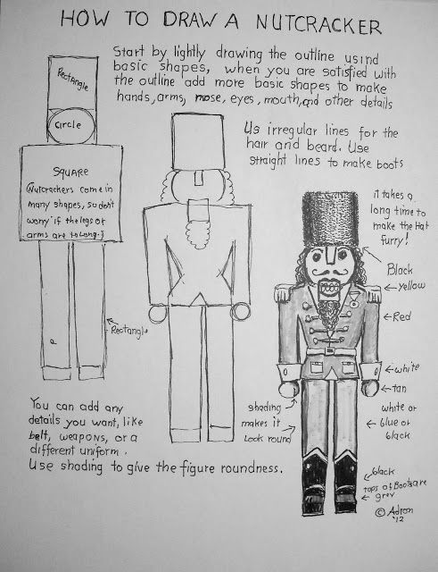 How To Draw A Nutcracker Worksheet. You can read the lesson at the ...