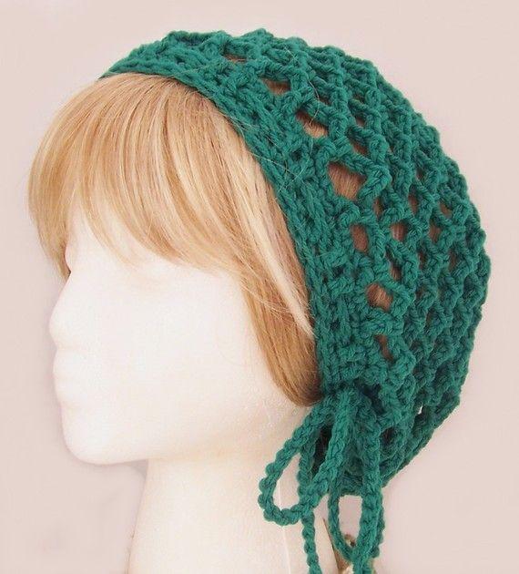 open weave slouch hat. I love the tie option! | Crochet ...