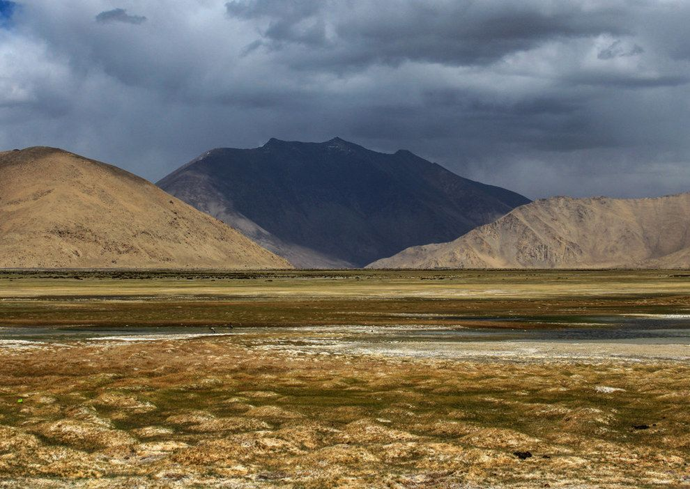 Spangur Gap In China Seen From Chushul Sector Ladakh Natural