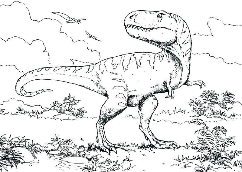 Jurassic World Coloring Pages Printable Di 2020
