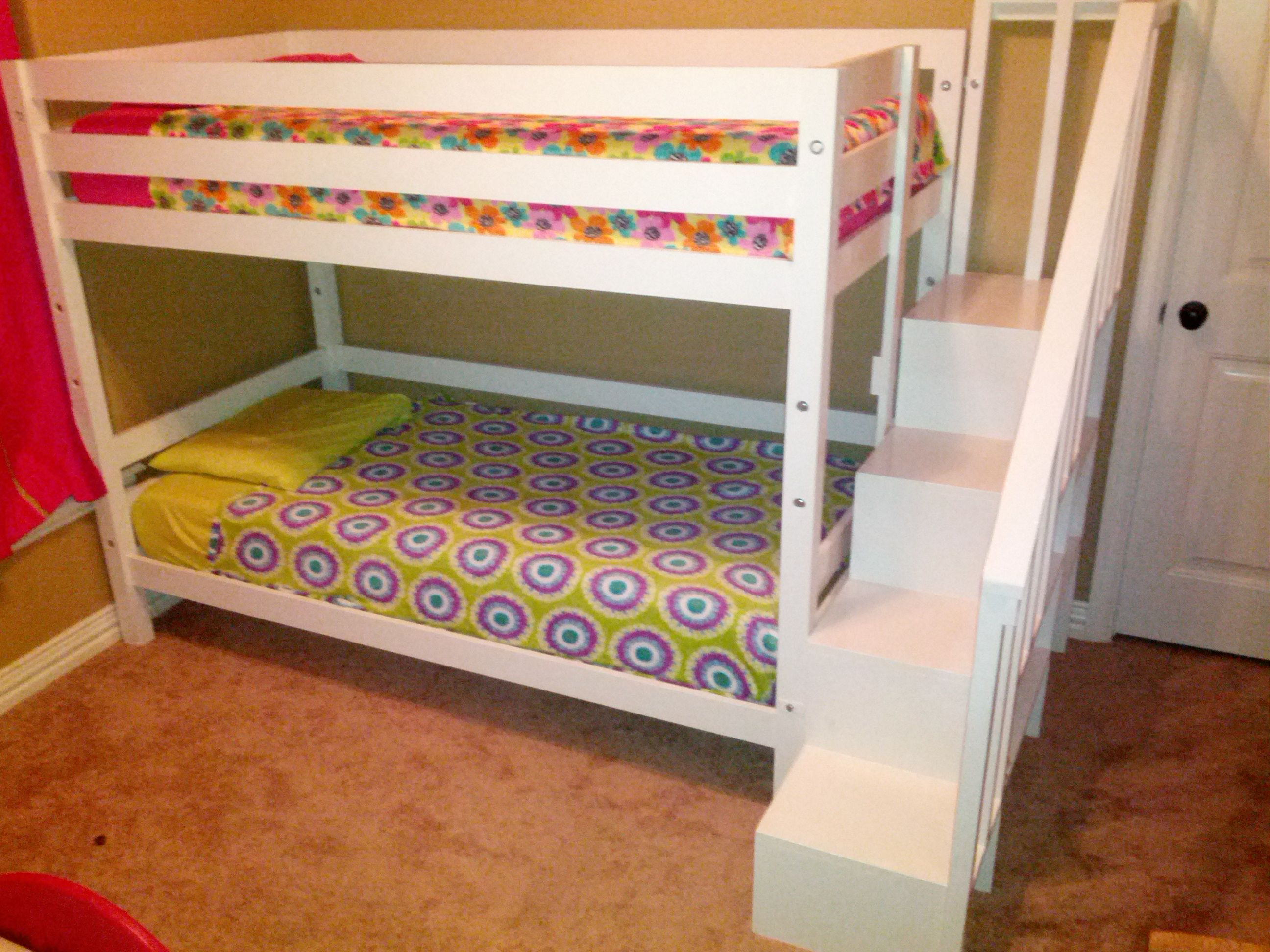 Classic Bunk Bed with Sweet Pea Stairs Do It Yourself