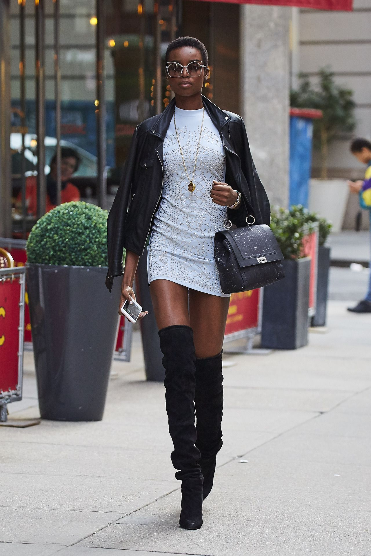 Maria Borges out in NYC