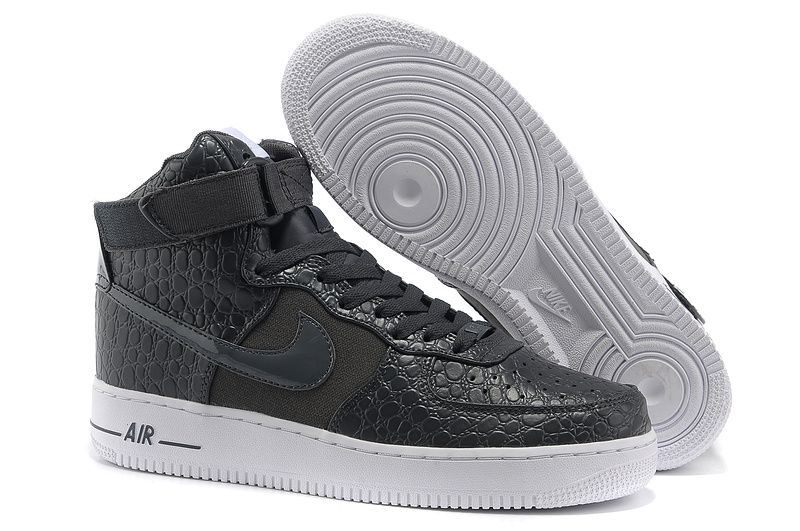 Nike Air Force 1st Men Black Gray Running Shoes Large Discount Hyper