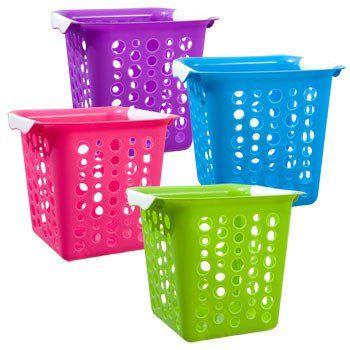 Brightly Colored Square Plastic Slot Basket Basket Plastic