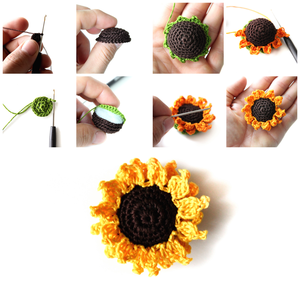 According to Matt...: Crocheted Sunflowers | Crochet Ideas ...