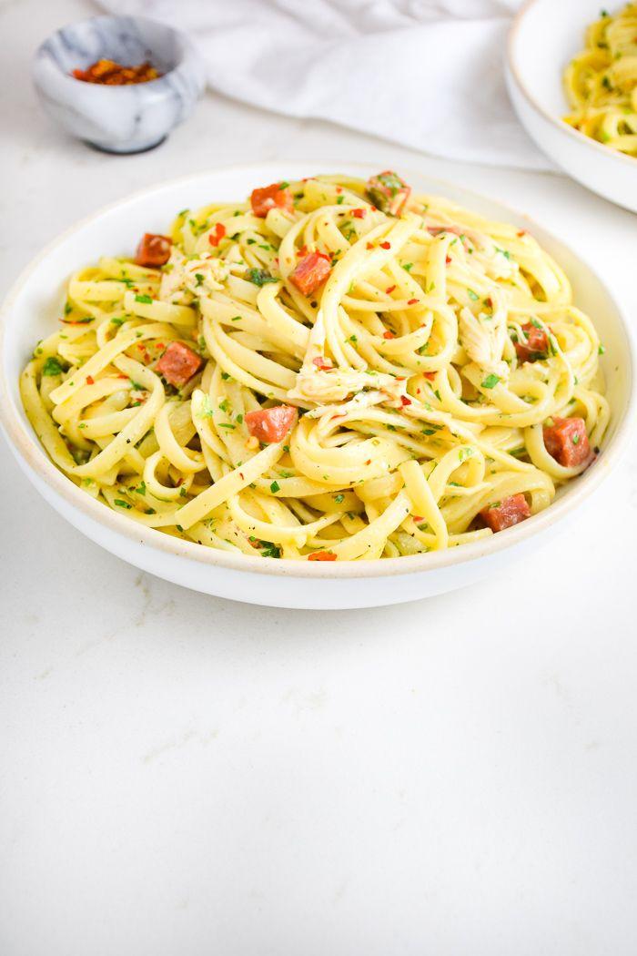 Chicken Pepperoni Pasta | Pepperoni pasta, Easy dinner ...