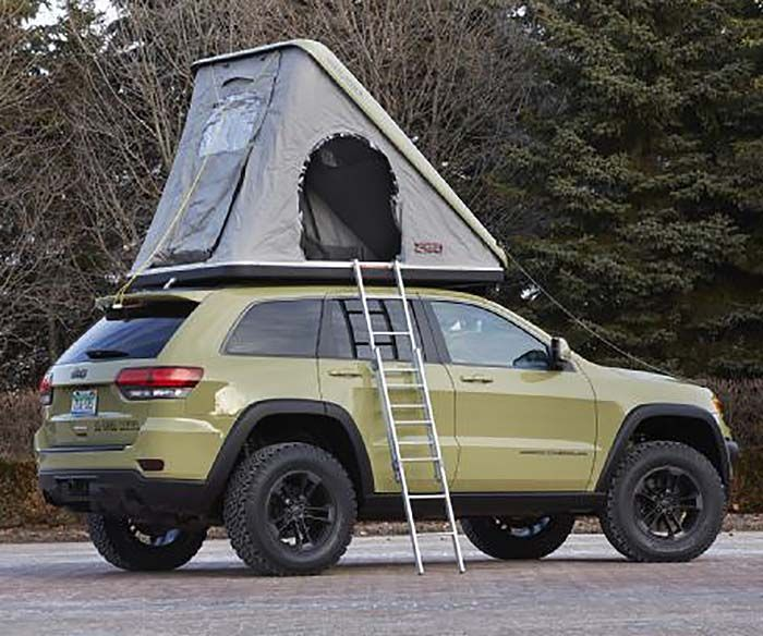 Jeep Grand Cherokee Overlander Concept Is Perfect Off Grid Vehicle Off Grid World Jeep Concept Jeep Grand Jeep Trailhawk