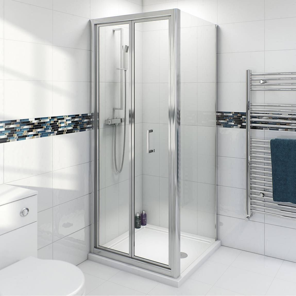 Clarity 4mm bifold shower enclosure with Simplite shower tray ...