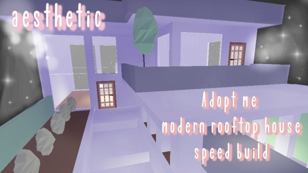 Aesthetic Modern Rooftop Glitch House Speed Build Part 1 Adopt Me Roblox Abliss Youtube House Plans With Pictures Futuristic Home Adoption