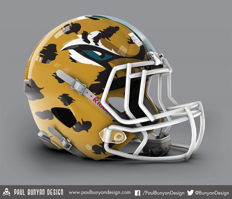 604898172 Jacksonville Jaguars - NFL Concept Helmet by Paul Bunyan Design