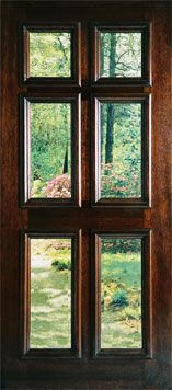 DOUBLE THIS 6 Panel Glass Door