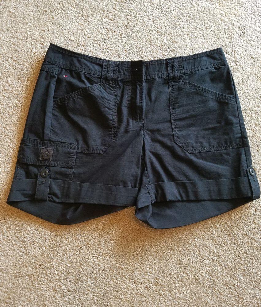 Tommy Hilfiger Women S Black Dress Shorts Size 2 Fashion Clothing Shoes Accessories Womensc Womens Black Dress Shorts Womens Black Dress Black Short Dress [ 1000 x 851 Pixel ]