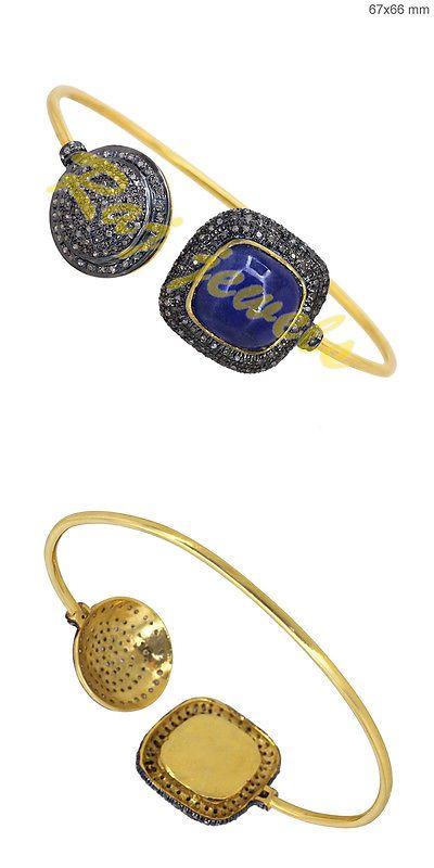 Bracelets Sterling Silver Tanzanite Bracelet Pave Diamond