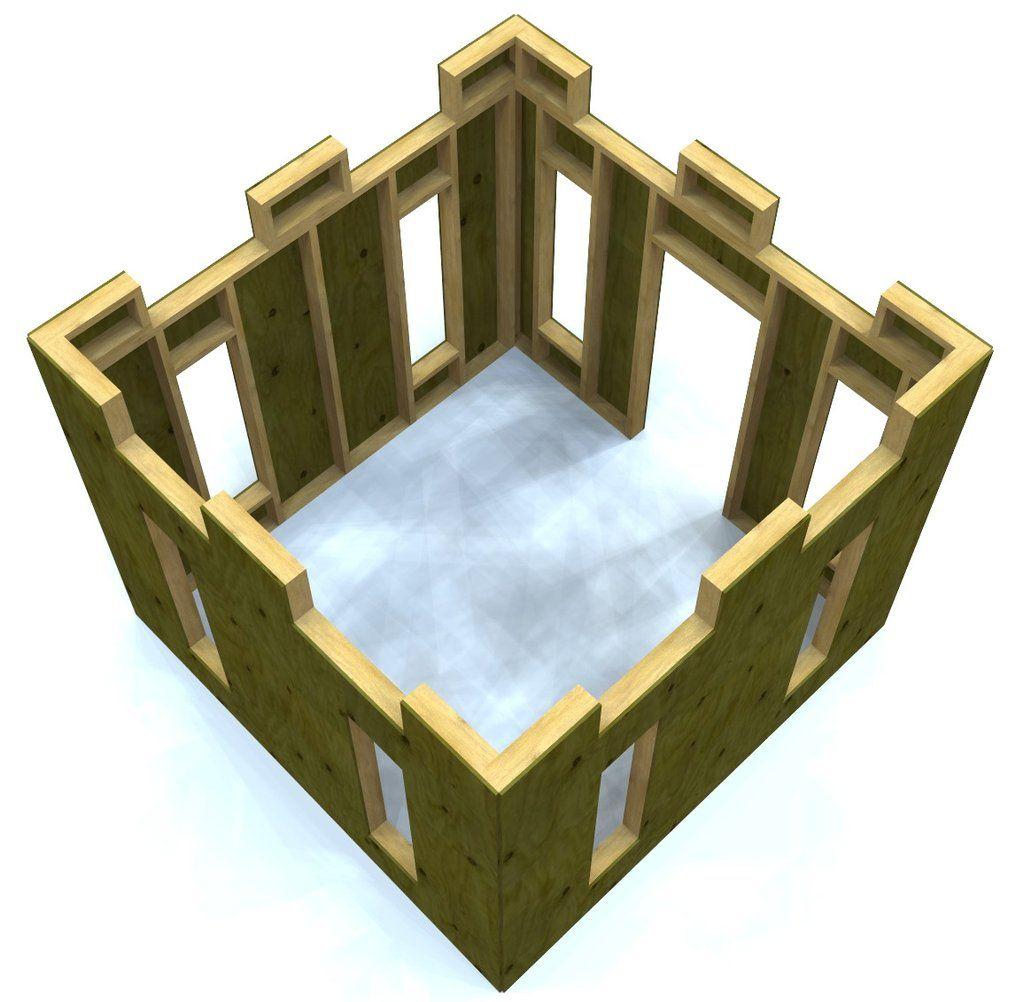 Top view of wooden plywood playfort