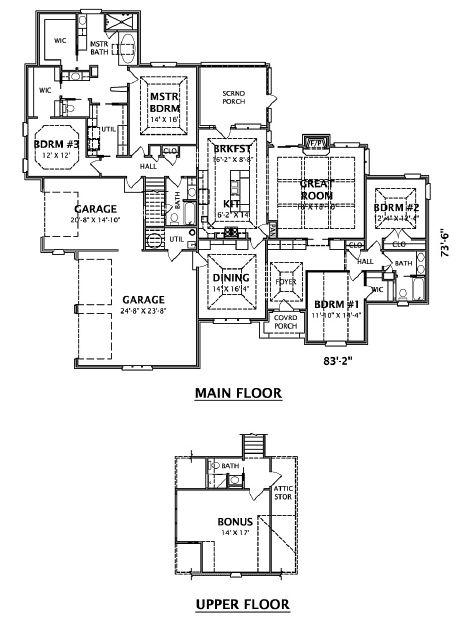 Brigham Floor Plan Good Except Master Ath Closet Configuration Floor Plans House Floor Plans Modern House Plans