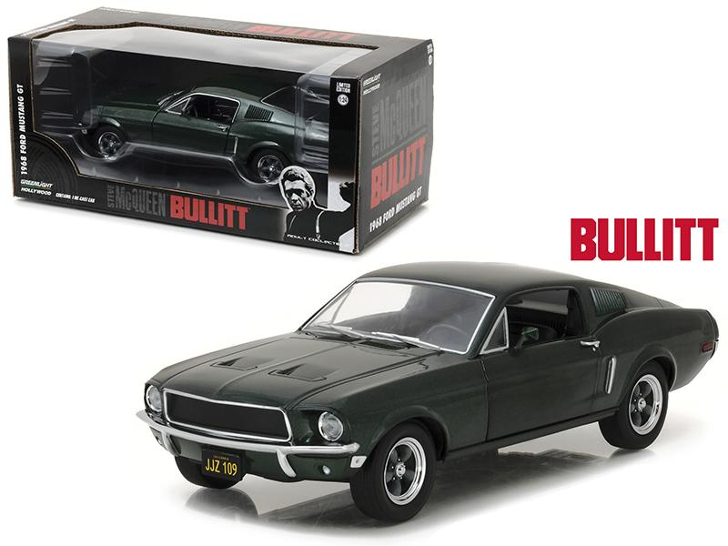 1968 Ford Mustang Gt Fastback From Movie 1 24 Diecast Model Car By