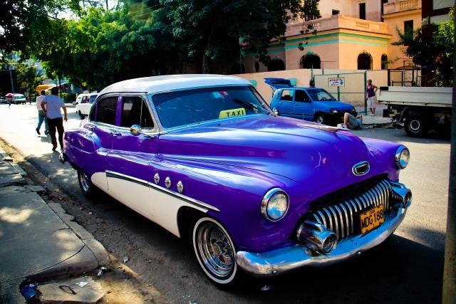 plum pretty cuban car