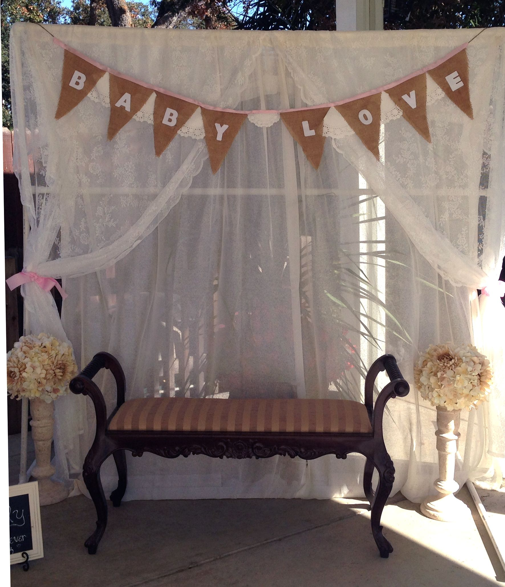 Baby Showers Backdrop ~ Baby shower photo booth backdrop showers