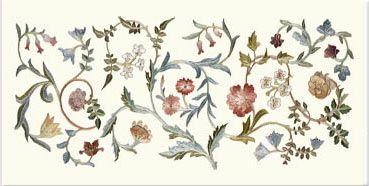 May Morris Garden Piece Single Border Tile