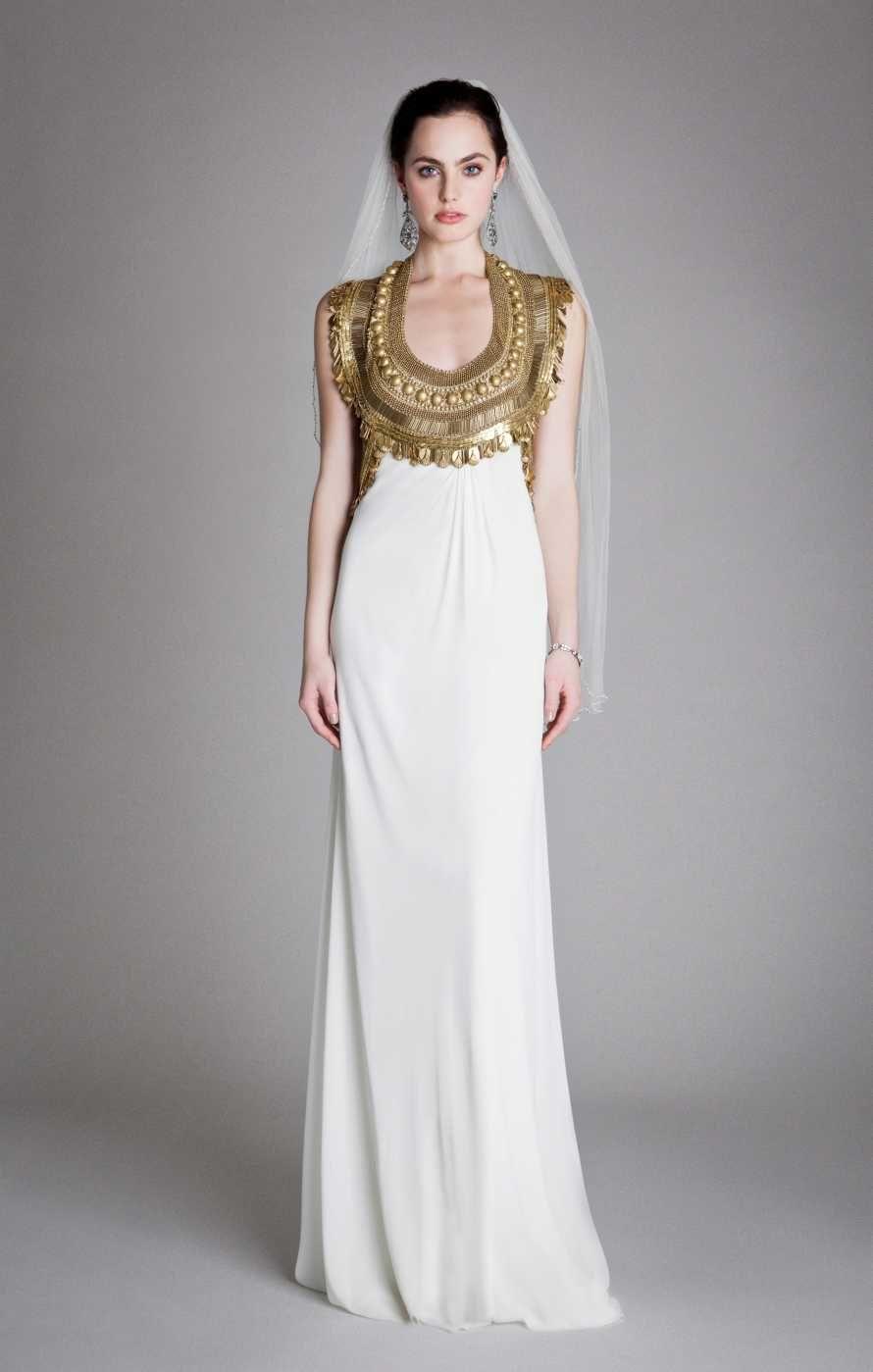 grecian empire wedding dress 12Y RTW Look 6|Goddess Dress ...