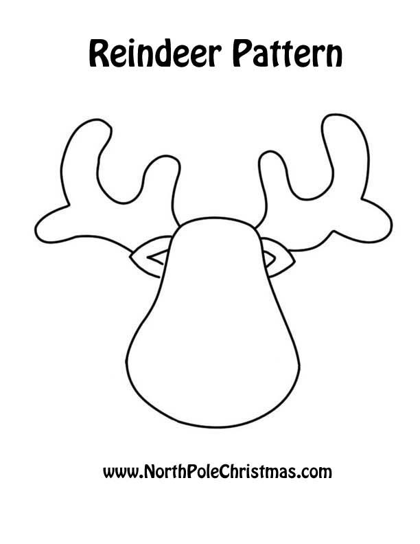 Reindeer Template Crafts Templates Pinterest Navidad