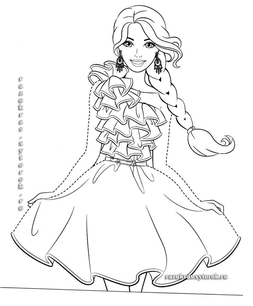Раскраски Barbie 13 | Раскраски, Барби и Принцессы диснея