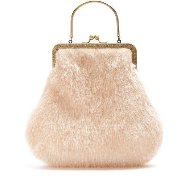 Shrimps Arthur Faux Fur Bag 268 Liked On Polyvore Featuring Bags Handbags Pastel Pink Bag Top Handle Purse Faux Fur Handbag Faux Fur Bag Beige Handbags