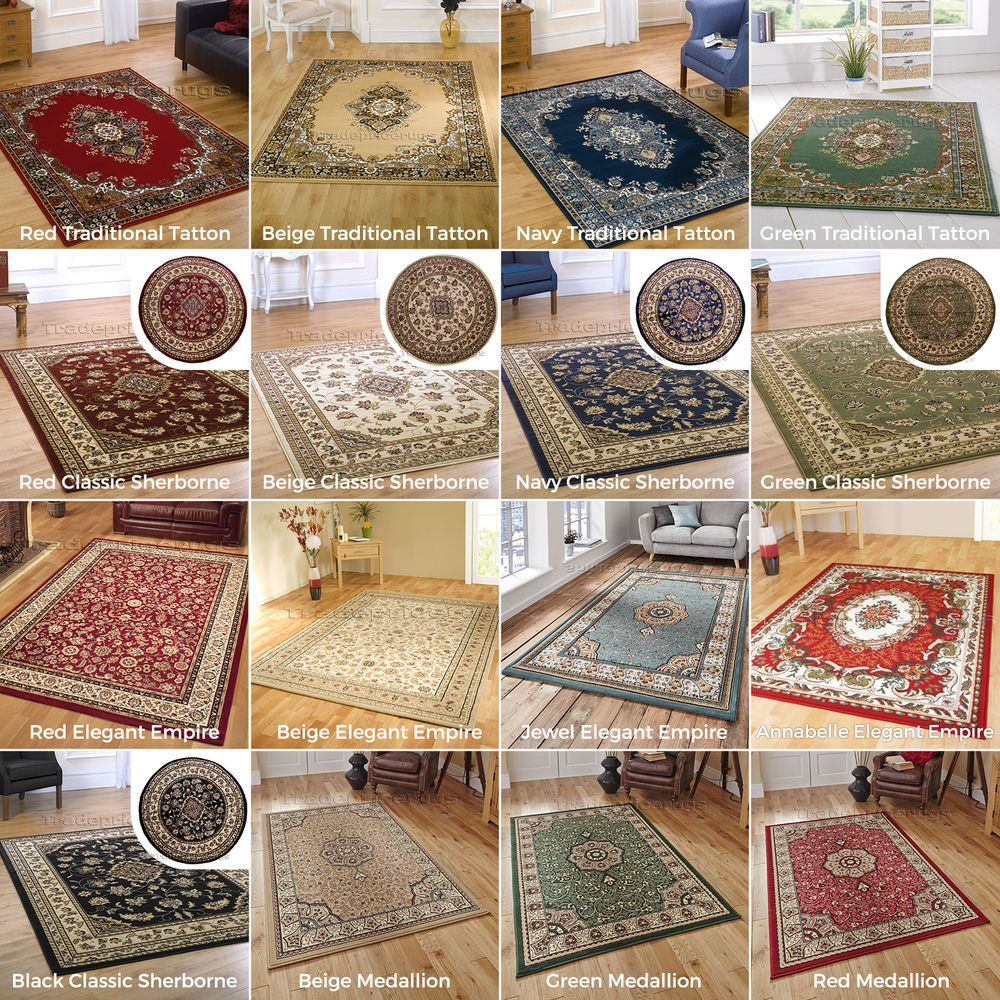 Small Extra Large Elegant Clic Traditional Rugs Blue Dark Red Green Beige