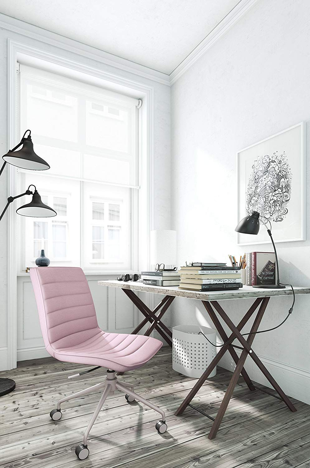 ELLE Décor Adelaide Task Chair, French Ivory