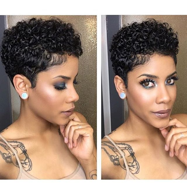 Short Natural Haircuts For Black Women Short Natural Curly