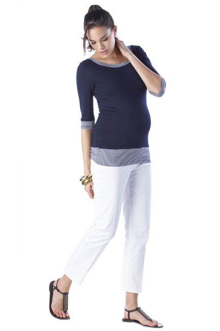 12cffcbd9dff6 Seraphine Harriet Boat Neck Sailor Stripe Maternity Top | Maternity Clothes  www.duematernity.com