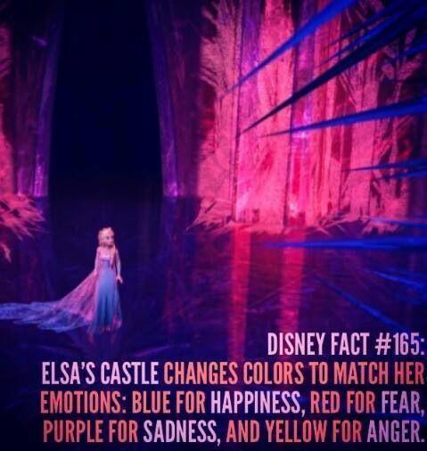 Frozen. Elsa's ice castle changes color depending on her mood...it's a mood ring!