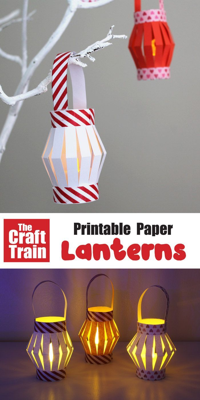 Mini Paper Lanterns with printable template | The Craft Train