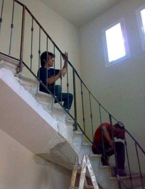 Barandillas de hierro forjado barandales barandillas - Baranda de escalera ...