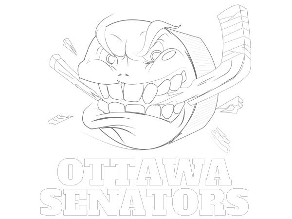 Printable Ottawa Senators Coloring Sheet | NHL Coloring Sheets ...