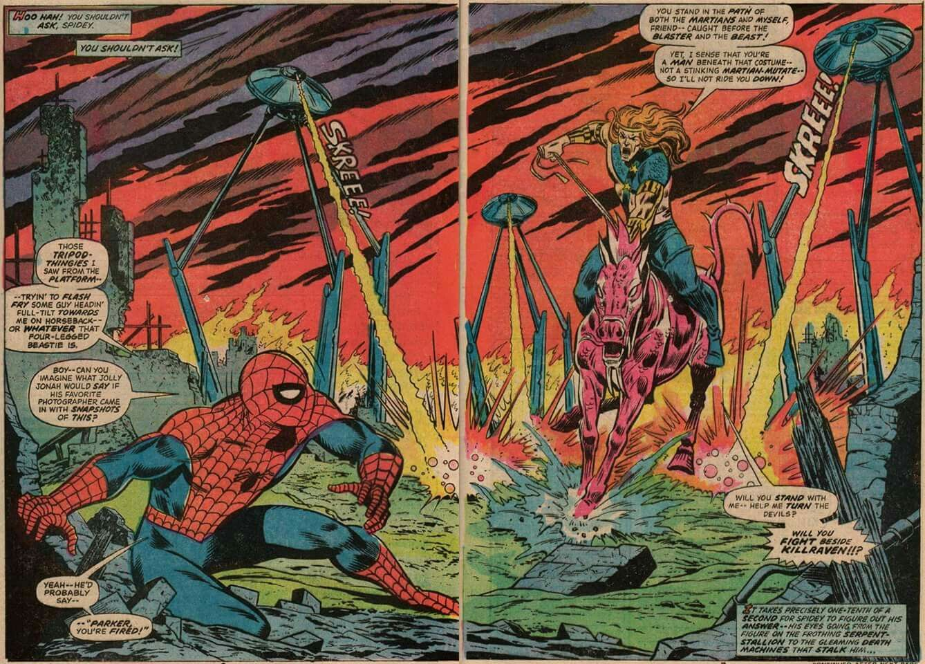 Spidey time traveling...again.  Marvel Team Up were great fun!