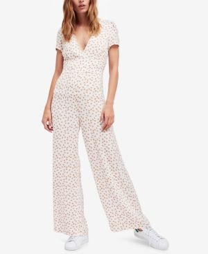 6ae12f0ef0bf Free People Mia Empire-Waist Jumpsuit - Ivory Cream 6
