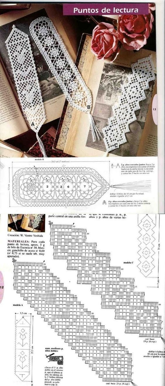Free filet crochet bookmark patterns.: | Marcapáginas | Pinterest ...