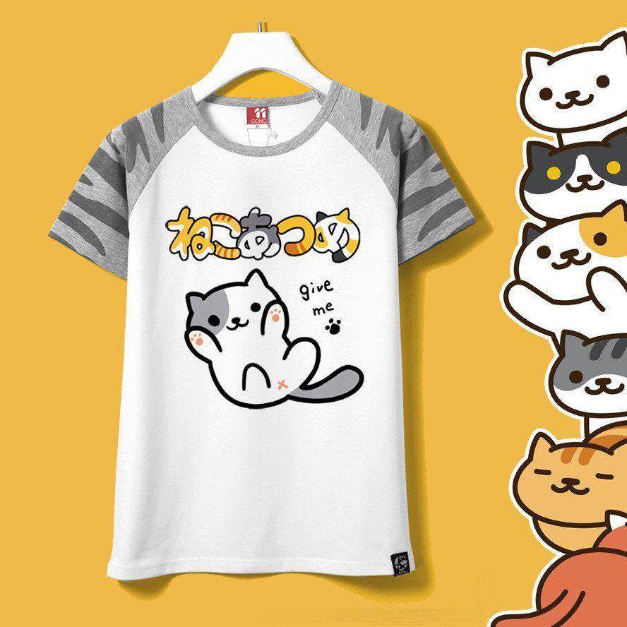 Harajuku shirt neko atsume anime cartoon japanese kawaii t