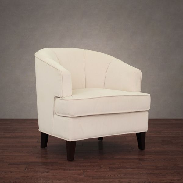 Tripoli Cream Velvet Arm Chair  Overstock Shopping  Great Deals Inspiration Overstock Living Room Chairs Decorating Inspiration