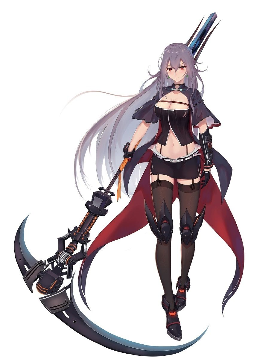 anime fantasy characters scythe is good | fantasy character design, concept art