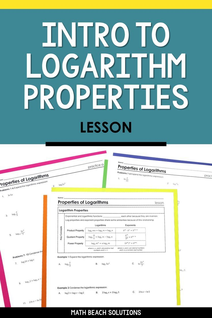 Intro To Log Properties Lesson In 2020 Algebra Lesson Plans Algebra Lessons Simplifying Expressions