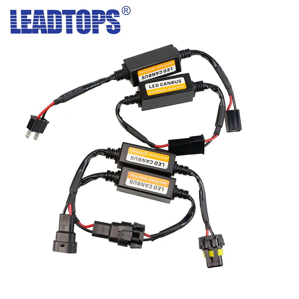 H1 H3 H7 H4 H11 9003 9004 9005 9006 9007 Canbus Wiring Harness 194 Led Adapter Car