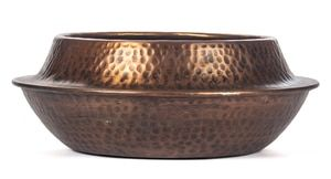 Dot Hammered Texture Planter Copper Antique Finish HOM134 is part of Metal Home Accessories Copper Accents - Description CAPTIVATING COPPER  The spectacular aesthetic of this Red Fig Home Decorative Bowl is its rich antique copper finish combined with its dot hammered textured surface  Crafted of aluminum with a round design, this gorgeous bowl adds a touch of sophistication to any space in your home  Approximate measurements are 15 25 inch diameter by 4 25 inch height  BRILLIANT BOWL   This largesized bowl not only looks remarkable but it can serve many practical uses  Use it to stack books and magazines, or fill it with potpourri, small stones or other decorative items  Bowl can also be utilized to hold trinkets, keys, remote controls, mail and more  PRETTY PLANTER   This Red Fig Home Decorative Bowl makes the perfect planter for indoor or outdoor display  Fill with plants, succulents and small flowers  Place it on your kitchen countertop, or use it as a table centerpiece in your dining room  Other placement ideas are on putting it on top of an end table in your living room, or on your bedroom dresser  As outdoor décor, sit it atop any surface on your deck, patio or terrace  FINEST QUALITY  This stunning and stylish bowl is built to last with durable materials and a sturdy design  It can be used and enjoyed for many years to come  Because of its versatility, it also makes an ideal gift for any occasion, including weddings, birthdays, anniversaries, engagements, housewarmings and more  RED FIG COMMITMENT  At Red Fig Home, we take pleasure in creating and offering decorative pieces that beautifully accent your home  We use only premium quality materials and professional packaging to assure longlasting durability of all our home décor items