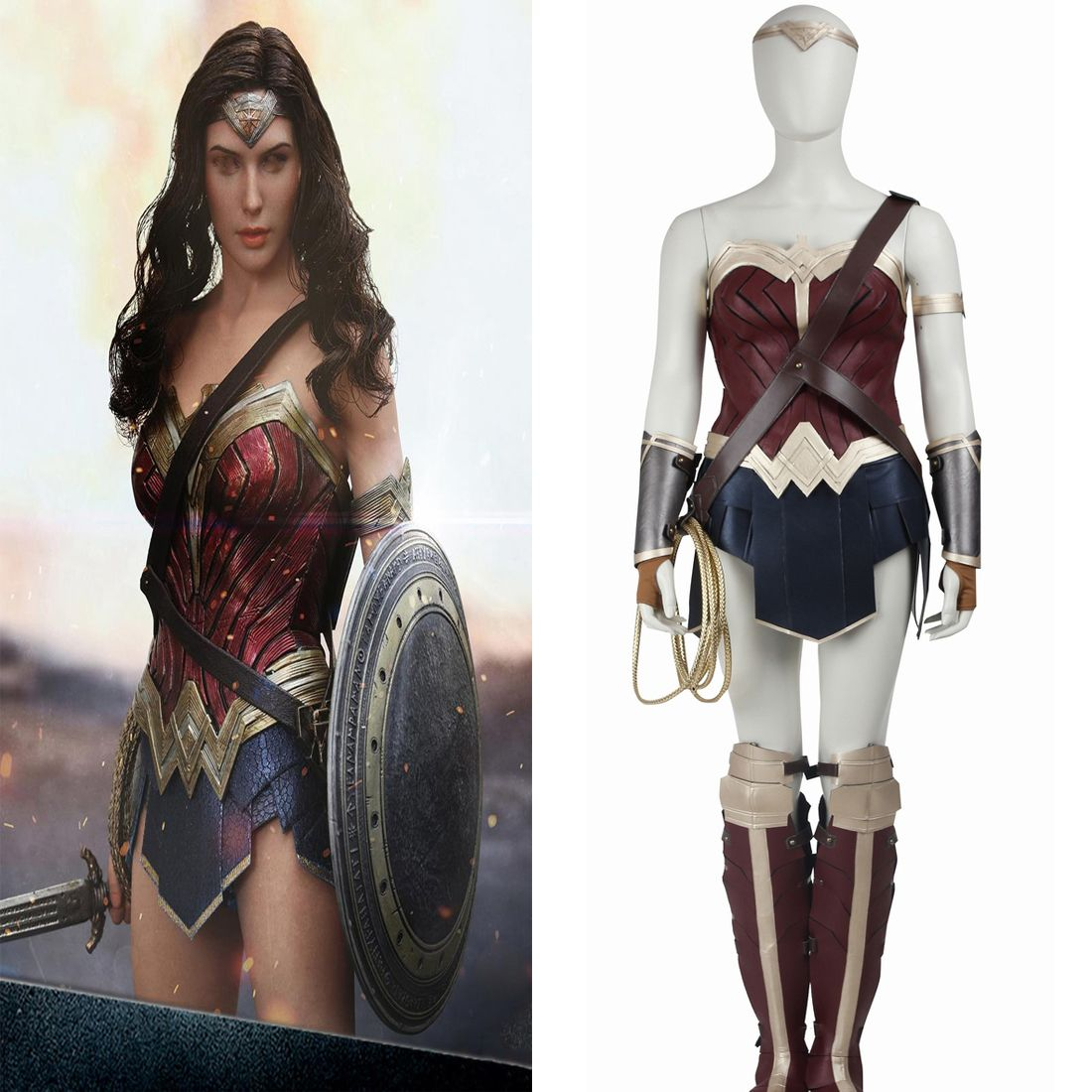 Diana Princess Wonder Woman Adult Movie Batman Halloween Costume ...
