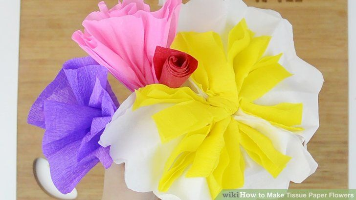 Make tissue paper flowers tissue paper flowers tissue paper and craft image titled make tissue paper flowers mightylinksfo