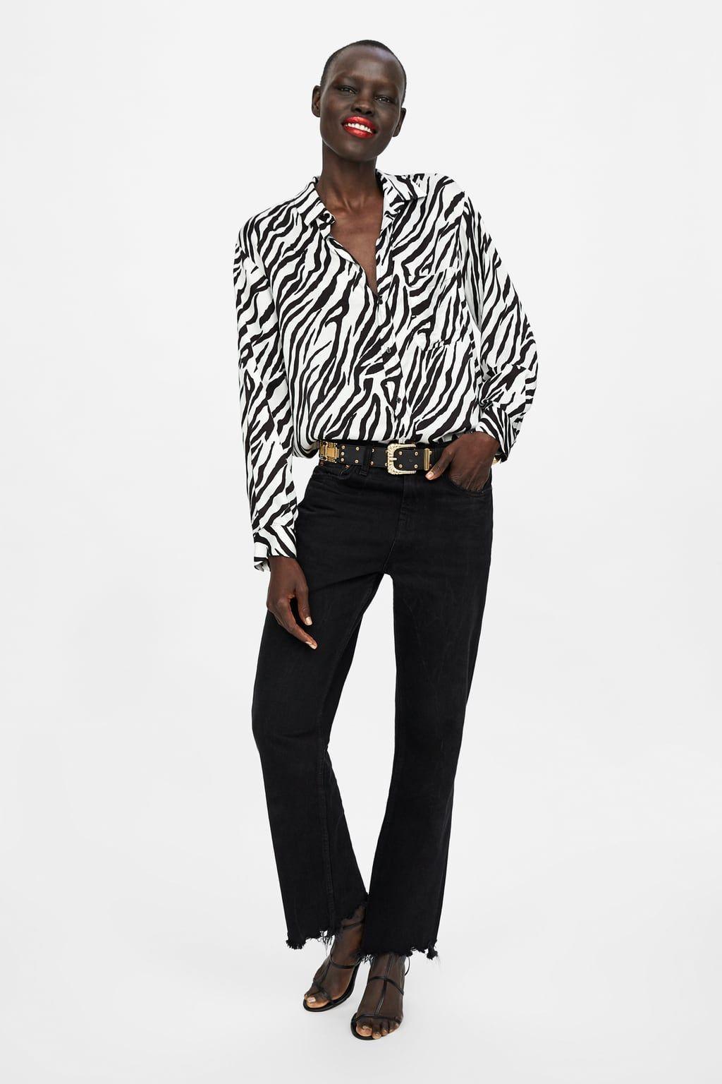 6fecff7c Image 1 of ZW PREMIUM ZEBRA SHIRT from Zara Womens Clothing Stores, Clothes  For Women
