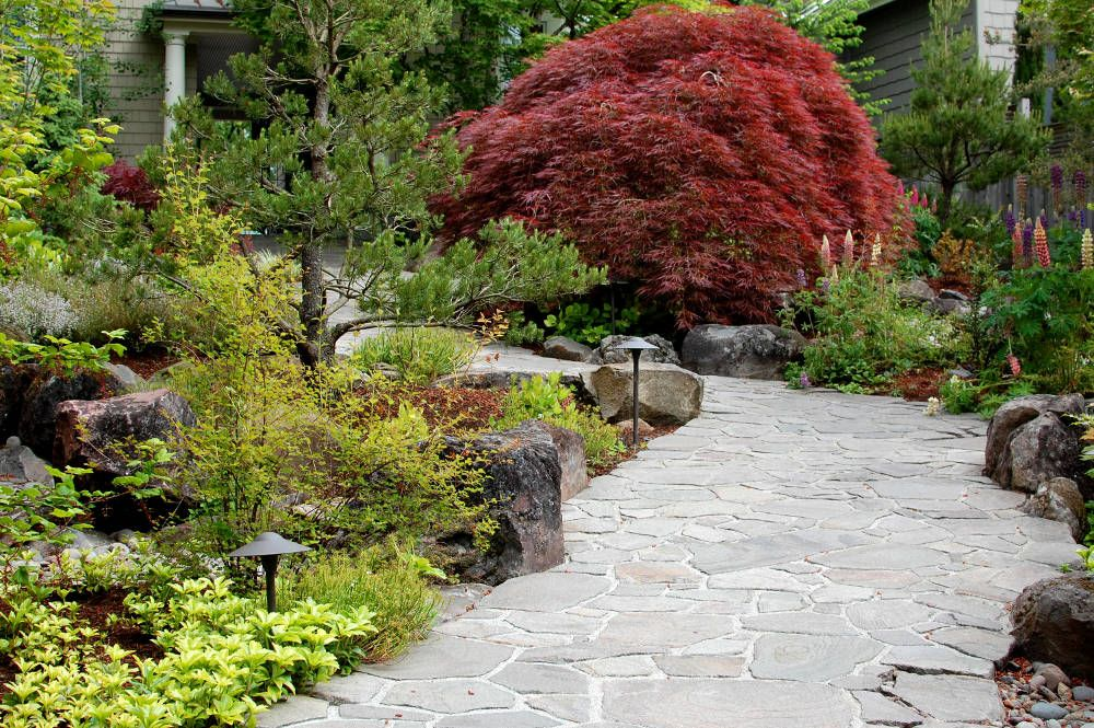 Lake Oswego Entry Garden Landschaftsdesign Landschaftspflege Landschaftsbau