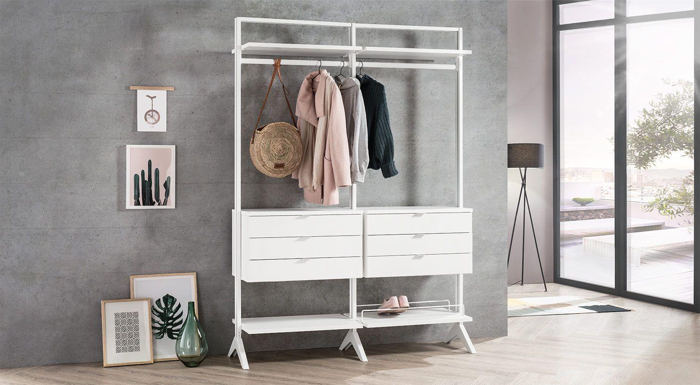 Begehbarer Kleiderschrank Fur Dachschrage Und Ankleidezimmer Begehbarer Kleiderschrank Raumteiler Regal Aufbewahrung Wohnzimmer