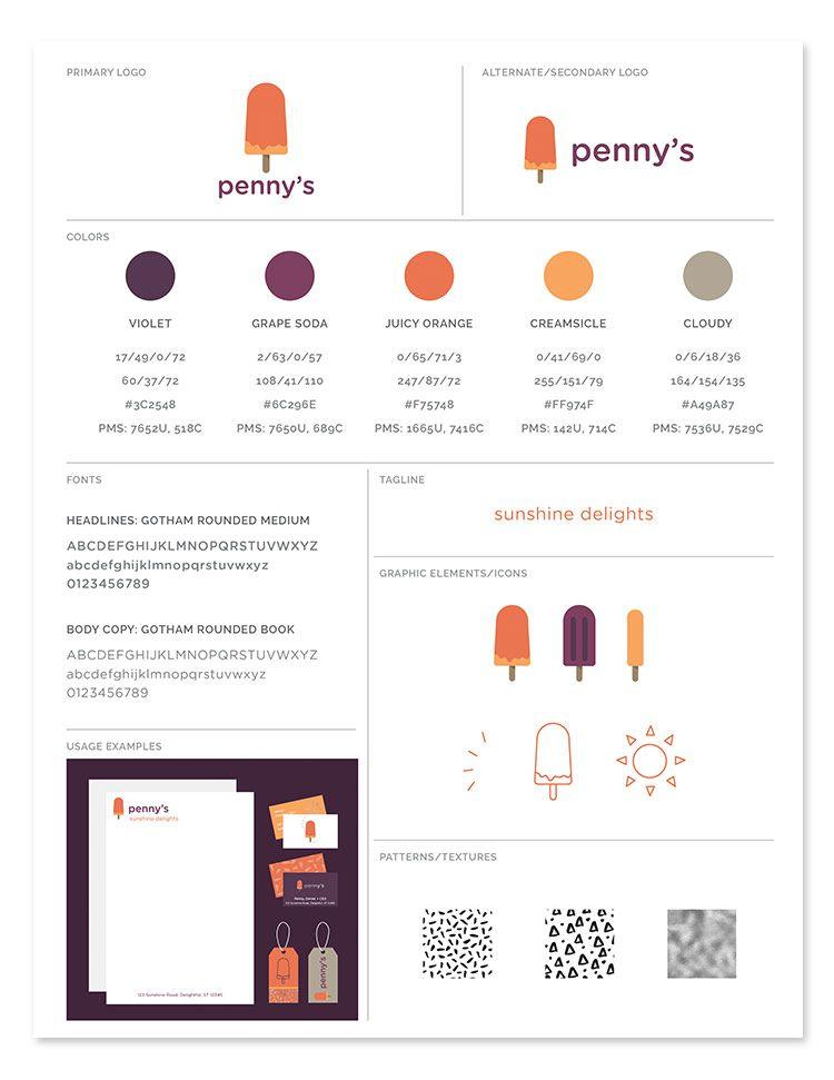 Freebie Brand Style Guide Template  D E S I G N  Brand style guide Brand guidelines template